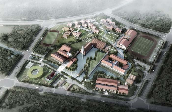 北京外国语大学附属如皋龙游湖国际学校方案规划公示图片